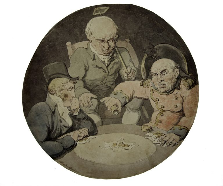 Gamblers Playing Dice. Thomas ROWLANDSON.