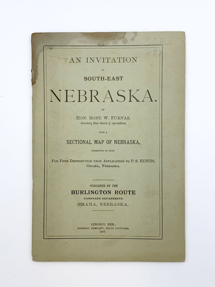 An Invitation to South-East Nebraska. Robert W. FURNAS.
