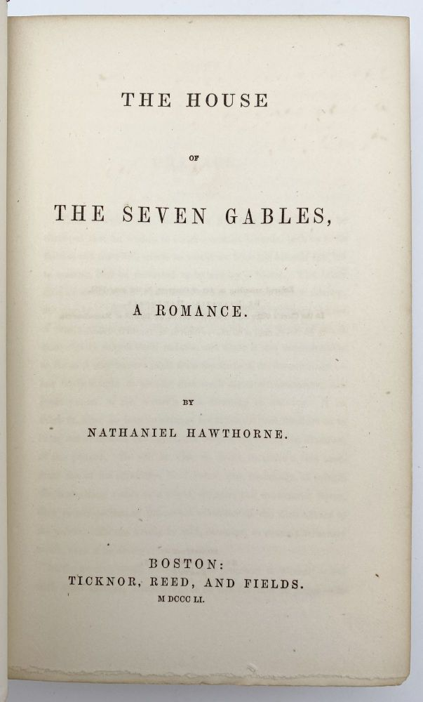 The House of the Seven Gables. Nathaniel HAWTHORNE.