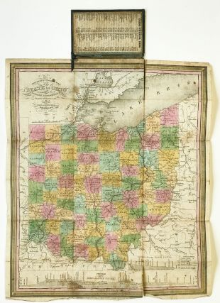 The Tourist's Pocket Map of the State of Ohio Exhibiting its Internal Improvements, Roads,...