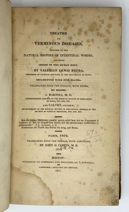A Treatise on Verminous Diseases.; Translated by J. Bartoli and Calvet. Valerian Lewis BRERA