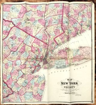 Map of New York and Vicinity. Frederick W. BEERS