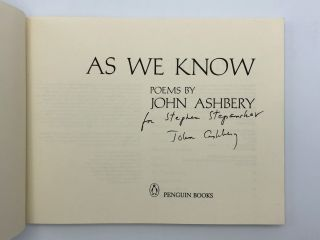As We Know. Poems