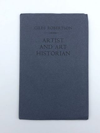 Artist and Art Historian. Giles ROBERTSON.