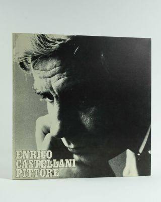 Estroflessione [Original Multiple in white plastic]. Accompanied by the book: Enrico Castellani Pittore