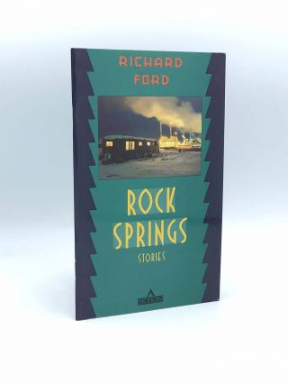 Signed publisher's advertising brochure for: Rock Springs: Stories. Richard FORD