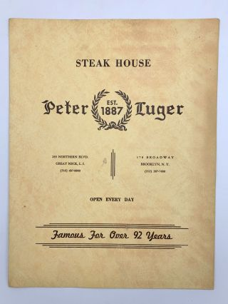 Collection of approximately 100 vintage menus