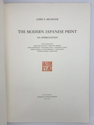 The Modern Japanese Print, an Appreciation