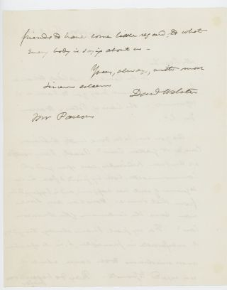 Autograph letter signed to Theophilus Parsons, Jr., Washington, D.C., 2 February 1840.