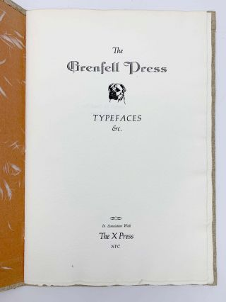 The Grenfell Press Typefaces &c.