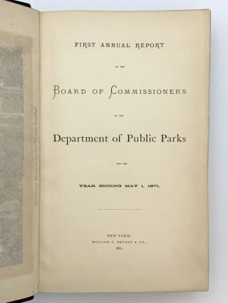 First Annual Report of the Board of Commissioners of the Department of Public Parks for the Year Ending May 1, 1971