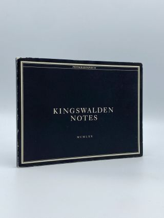 Kingswalden Notes [Pentagram Papers 16]. PENTAGRAM