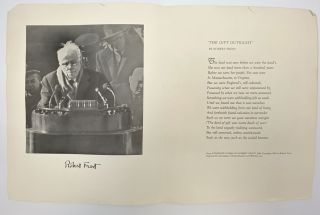 Ephemera from Robert Frost's 85th birthday party, New York, 26 March 1959