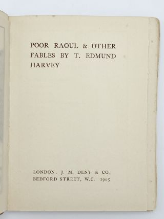 Poor Raoul and Other Fables